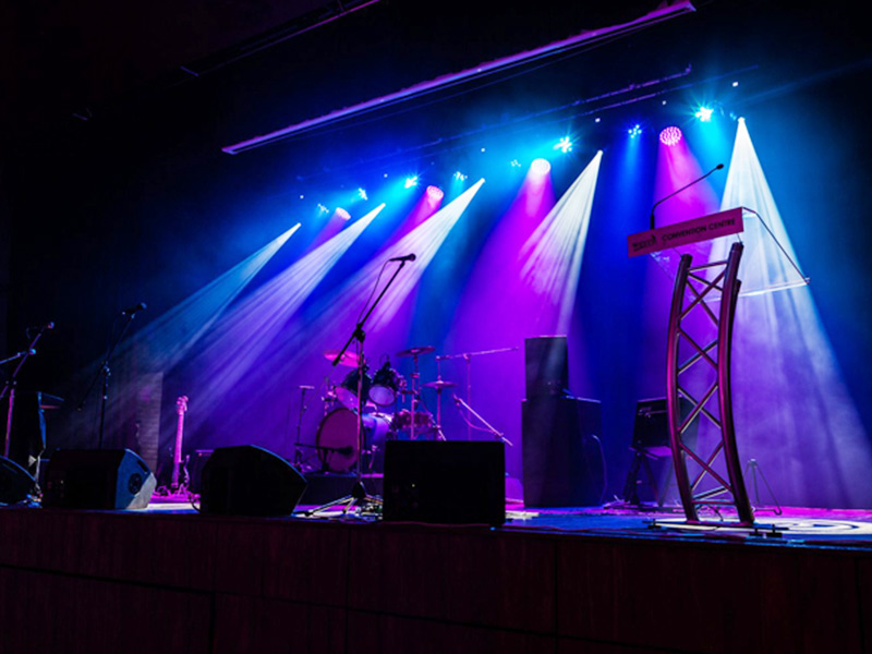School stage lighting